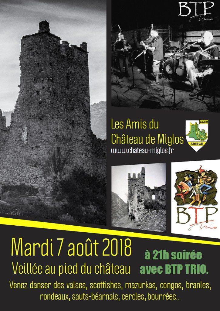 7 Août 2018 - Veillée au pied du Château avec le groupe BTP Trio