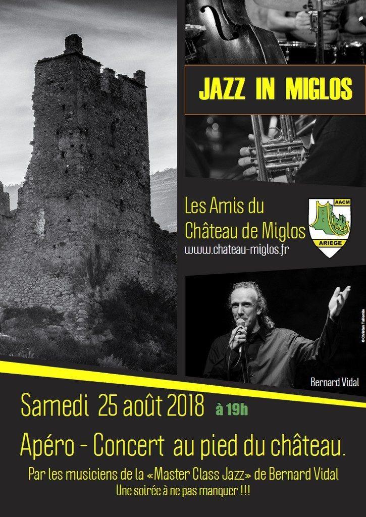 "25 Août 2018 à 19h00 :  ""JAZZ IN MIGLOS""   Apéro - Concert"