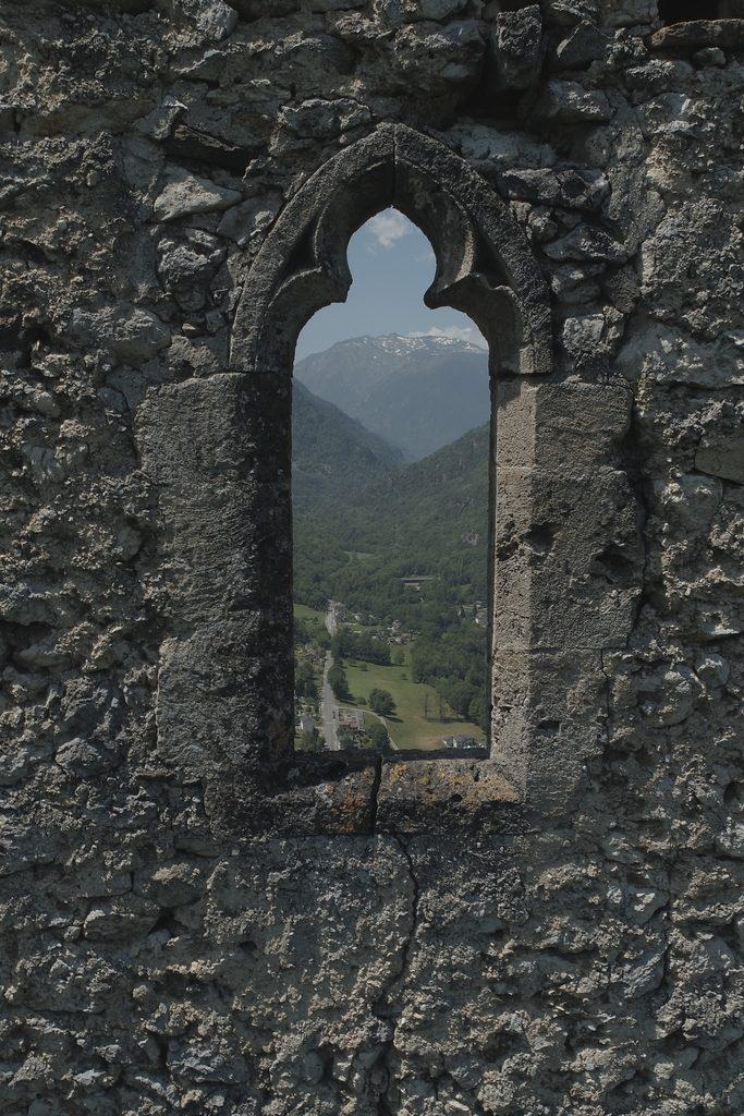 Fenêtre trilobée extérieur - AACM © Drone09