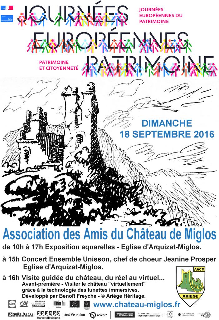 Affiche Journée du Patrimoine 2016 AACM