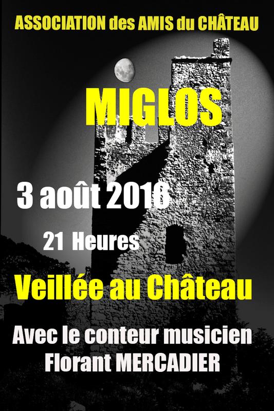 Veillée château Miglos 2016 - Florant Mercadier - Conteur
