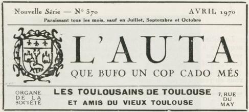 L'AUTA QUE BUFO UN COP CADE MÉS - Avril 1970