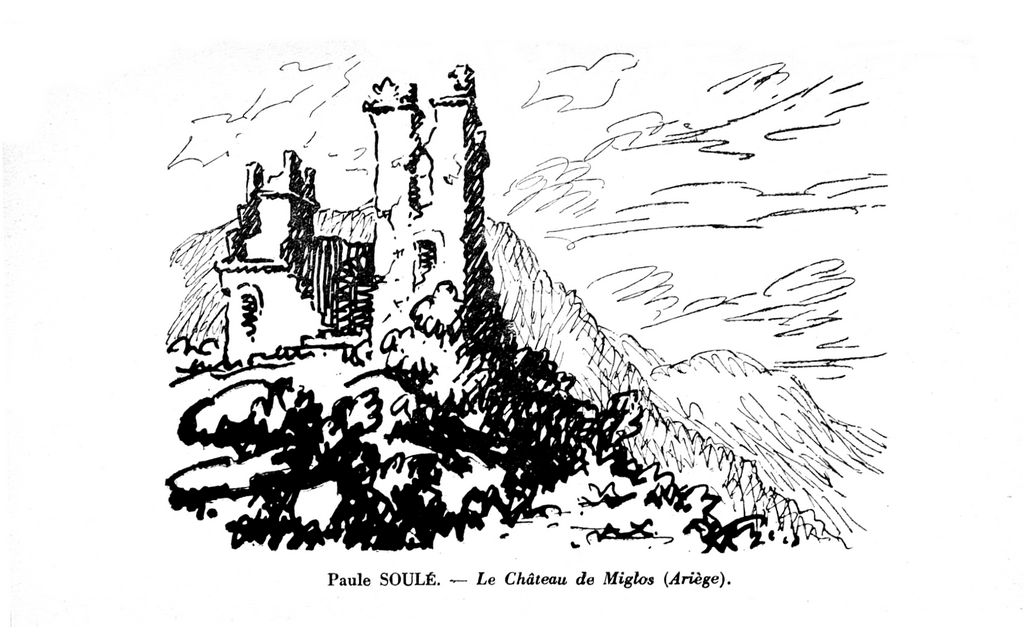 Le château de Miglos par Paule Soulé - Artistes Méridionaux  - XXXle Exposition de Toulouse 1940