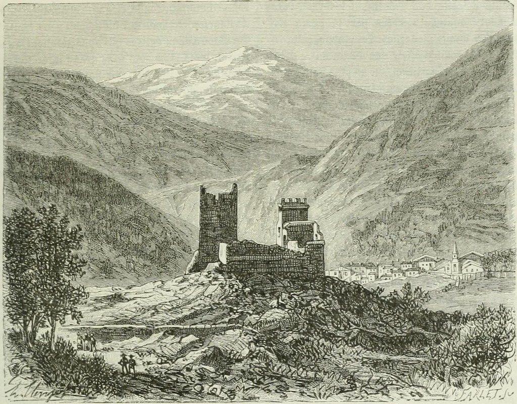 Château de Miglos 1884 - AACM - www.amiglos.fr -JG