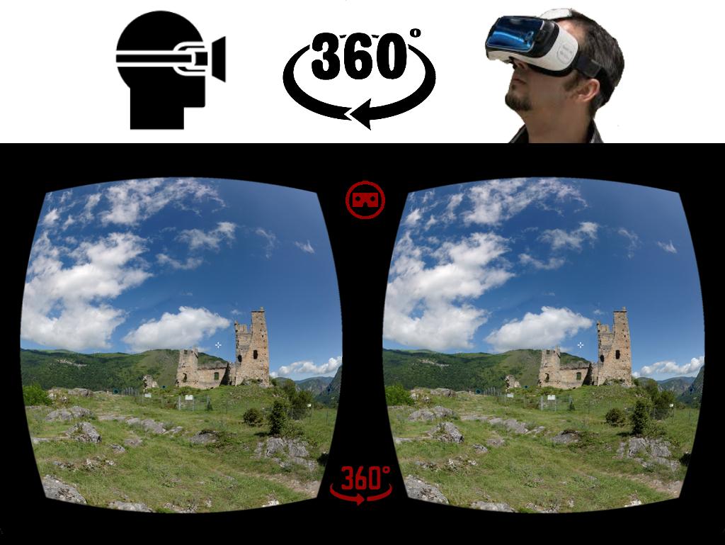 Vision panorama 360 degrés avec lunette - AACM © Ariège Héritage