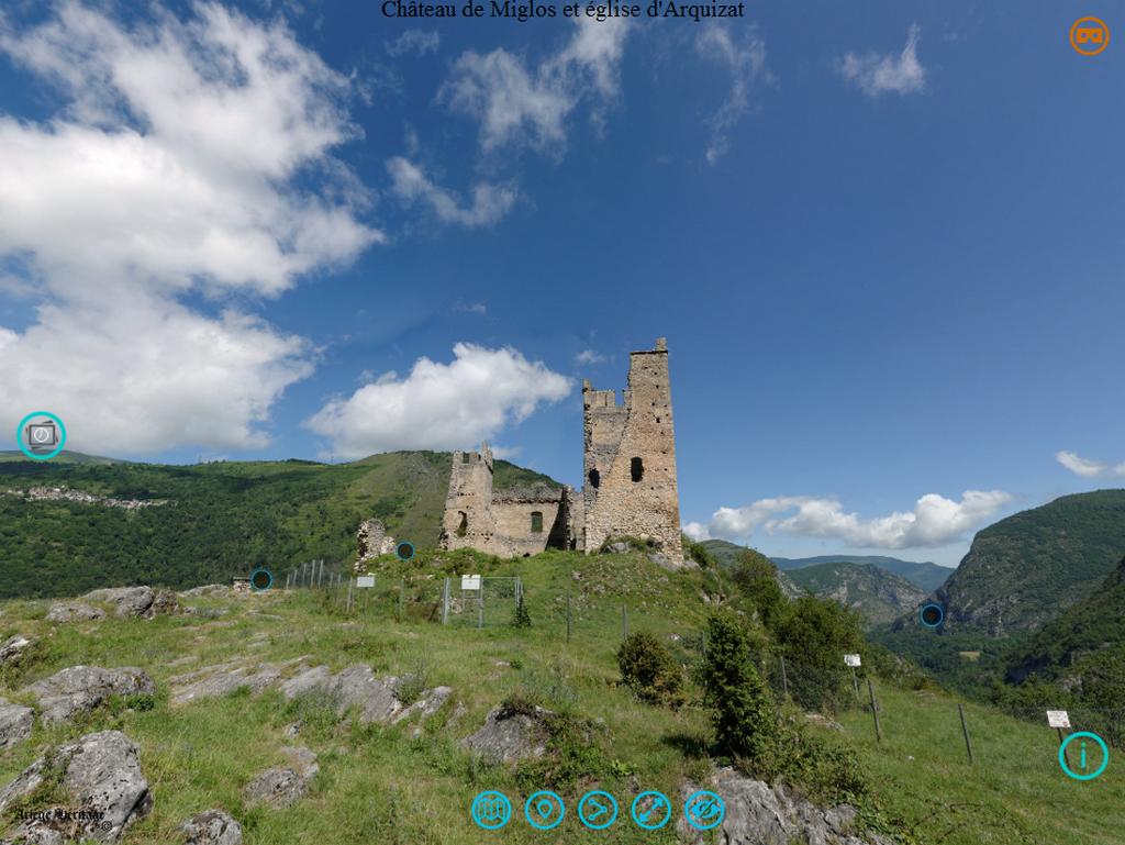 Capture écran Panorama 360 degrés - AACM © Ariège Héritage