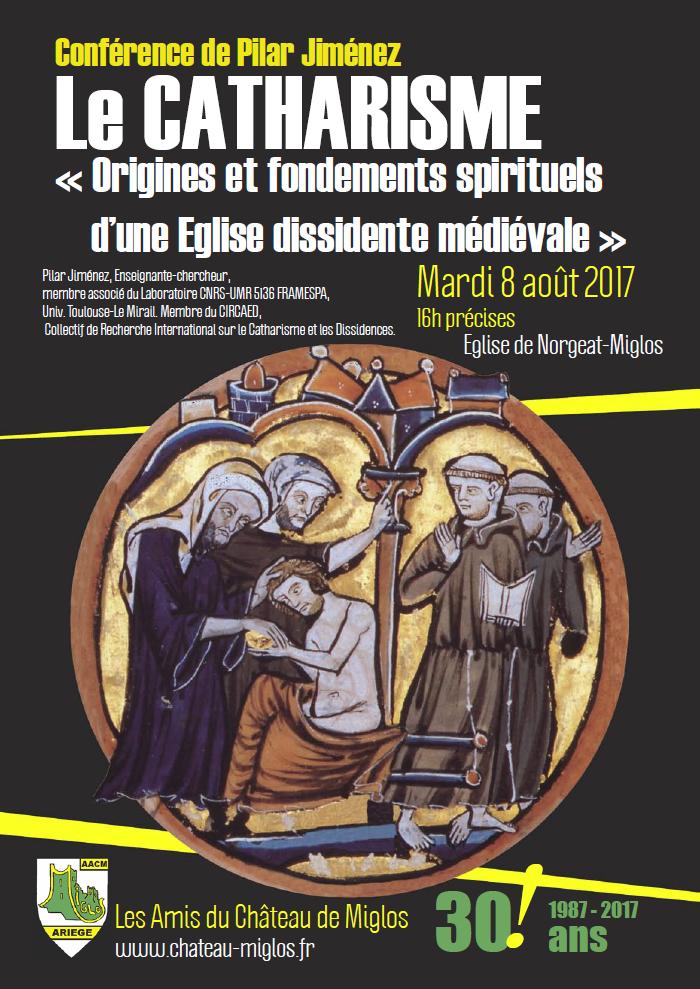 Conférence de Pilar Jiménez : « Le catharisme. Origines et fondements spirituels d'une Eglise dissidente médiévale ».
